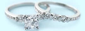 Cindy Accented Wedding Set